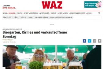 Biergarten, Kirmes und verkaufsoffener Sonntag
