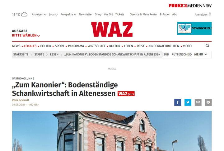 """""""Zum Kanonier"""": Bodenständige Schankwirtschaft in Altenessen"""
