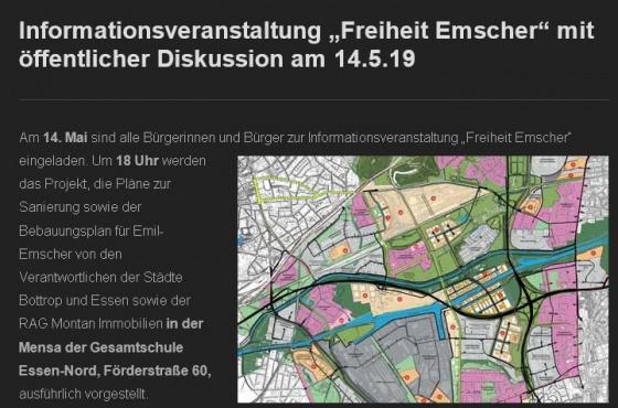 """Info-Veranstaltung """"Freiheit Emscher"""""""