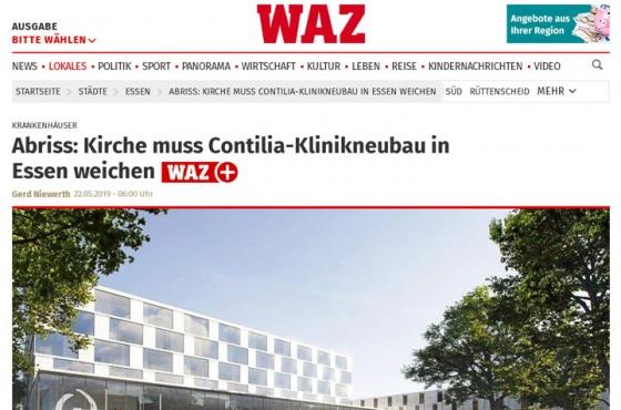 Abriss: Kirche muss Contilia-Klinikneubau in Essen weichen