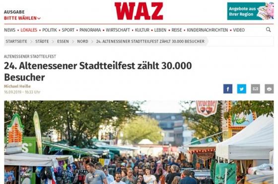Stadtteilfest zählt 30.000 Besucher