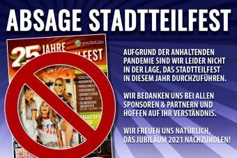 Absage 25. Stadtteilfest